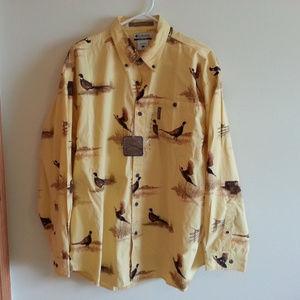 "Columbia ""River Lodge"" yellow shirt - mens L - NWT"